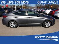 Gray 2018 Hyundai Elantra SE FWD 6-Speed Manual 2.0L