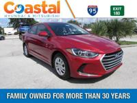 Red 2018 Hyundai Elantra SE FWD 6-Speed Automatic with