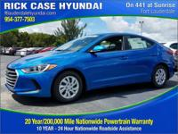 2018 Hyundai Elantra SE  in Electric and 20 year or