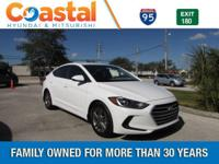 White 2018 Hyundai Elantra SEL FWD 6-Speed Automatic
