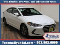 White 2018 Hyundai Elantra Value Edition FWD 6-Speed