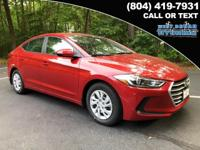 2018 Hyundai Elantra SE 38/29 Highway/City MPG