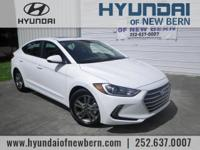 Recent Arrival!  White 2018 Hyundai Elantra Value