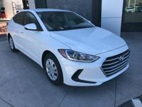 White 2018 Hyundai Elantra SE FWD 6-Speed Automatic