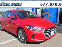 2018 Hyundai Elantra SEL Scarlet Red 37/28 Highway/City