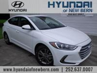 White 2018 Hyundai Elantra Value Edition FWD 6-Speed