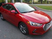 2018 Hyundai Elantra Value Edition Red Factory MSRP: