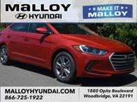 Recent Arrival!  Scarlet Red 2018 Hyundai Elantra Value