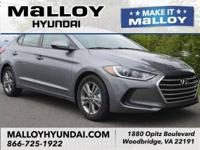 Recent Arrival!  Machine Gray 2018 Hyundai Elantra SEL