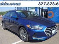 2018 Hyundai Elantra SEL Lakeside 37/28 Highway/City