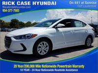 2018 Hyundai Elantra SE  in White Pearl and 20 year or