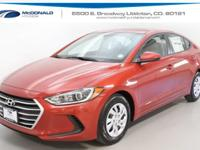 Red 2018 Hyundai Elantra SE FWD 6-Speed 2.0L 4-Cylinder