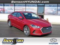 Elantra SEL, Scarlet Red, and Beige. Take a test drive