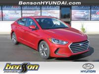 Scarlet Red 2018 Hyundai Elantra SEL FWD 6-Speed