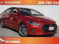 Scarlet Red 2018 Hyundai Elantra Limited FWD 6-Speed