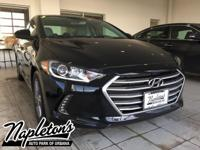 2018 Hyundai Elantra in Black, AUX CONNECTION, USB,