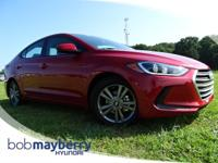 This 2018 Hyundai Elantra SEL Scarlet Red with a Gray