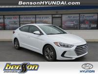 Elantra SEL, White Pearl, and Black. Enjoyable on every
