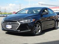 Certified. 2018 Hyundai Elantra Black Diamond SEL FWD