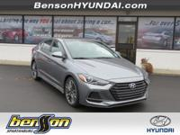 Elantra Sport, FWD, Galactic Gray, and Black. Soccer