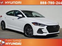 Ceramic White 2018 Hyundai Elantra Sport FWD 7-Speed