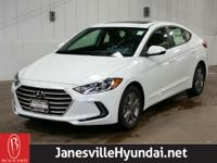 * This stylish White 2018 Hyundai Elantra includes the