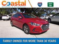 Red 2018 Hyundai Elantra Value Edition FWD 6-Speed