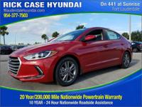 2018 Hyundai Elantra Value Edition  in Scarlet Red and