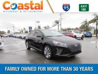 Black 2018 Hyundai Ioniq Hybrid Limited FWD 6-Speed