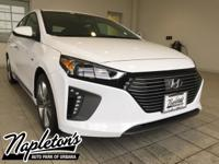 2018 Hyundai Ioniq Hybrid in White, AUX CONNECTION,