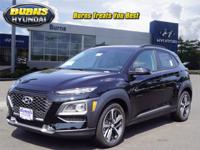 Ultra Black 2018 Hyundai Kona Limited H21334 AWD