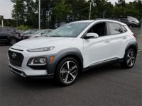 White 2018 Hyundai Kona Limited AWD 7-Speed Automatic