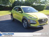 Lime 2018 Hyundai Kona Limited FWD 7-Speed Automatic I4