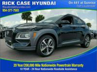 Recent Arrival! Ultra Black 2018 Hyundai Kona Limited