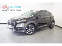 2018 Hyundai Kona Limited 32/28 Highway/City MPG  Van