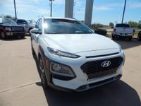 White 2018 Hyundai Kona Limited FWD 7-Speed Automatic