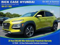 Recent Arrival! Lime 2018 Hyundai Kona Limited FWD