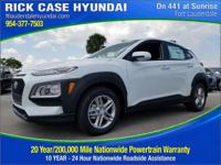 Recent Arrival! White 2018 Hyundai Kona SE FWD 6-Speed