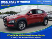 Recent Arrival! New Price! Pulse Red 2018 Hyundai Kona