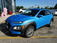 Surf Blue 2018 Hyundai Kona SEL AWD 6-Speed Automatic