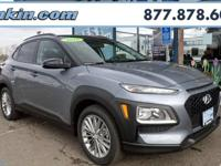 2018 Hyundai Kona SEL Silver / Black 33/27 Highway/City