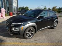 Ultra Black 2018 Hyundai Kona Ultimate AWD 7-Speed