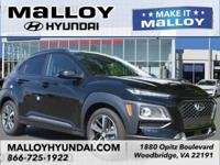 Recent Arrival!  Ultra Black 2018 Hyundai Kona Ultimate