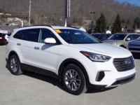 White 2018 Hyundai Santa Fe SE AWD 6-Speed Automatic