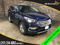 Blue 2018 Hyundai Santa Fe Sport 2.4 Value, Tech,