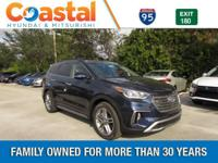 Blue 2018 Hyundai Santa Fe Limited Ultimate FWD 6-Speed