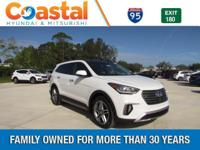 White 2018 Hyundai Santa Fe Limited Ultimate FWD