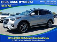 Recent Arrival! Gray Leather. Frost 2018 Hyundai Santa