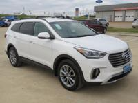 White 2018 Hyundai Santa Fe SE FWD 6-Speed Automatic