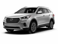 2018 Hyundai Santa Fe SE Silver  AWD, Gray Leather.